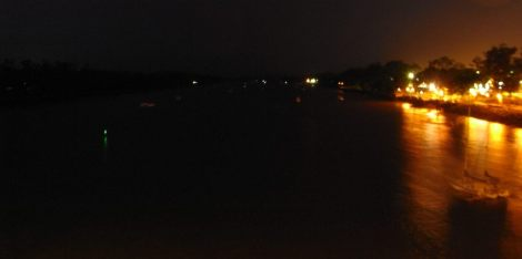 Rain on a dark night