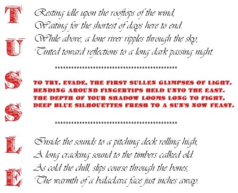 Tussle, a poem