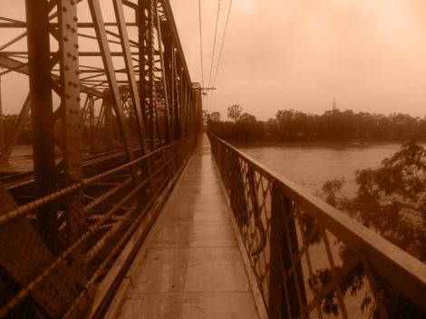 By foot and bridge