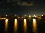 Dancing the night away on a bridge